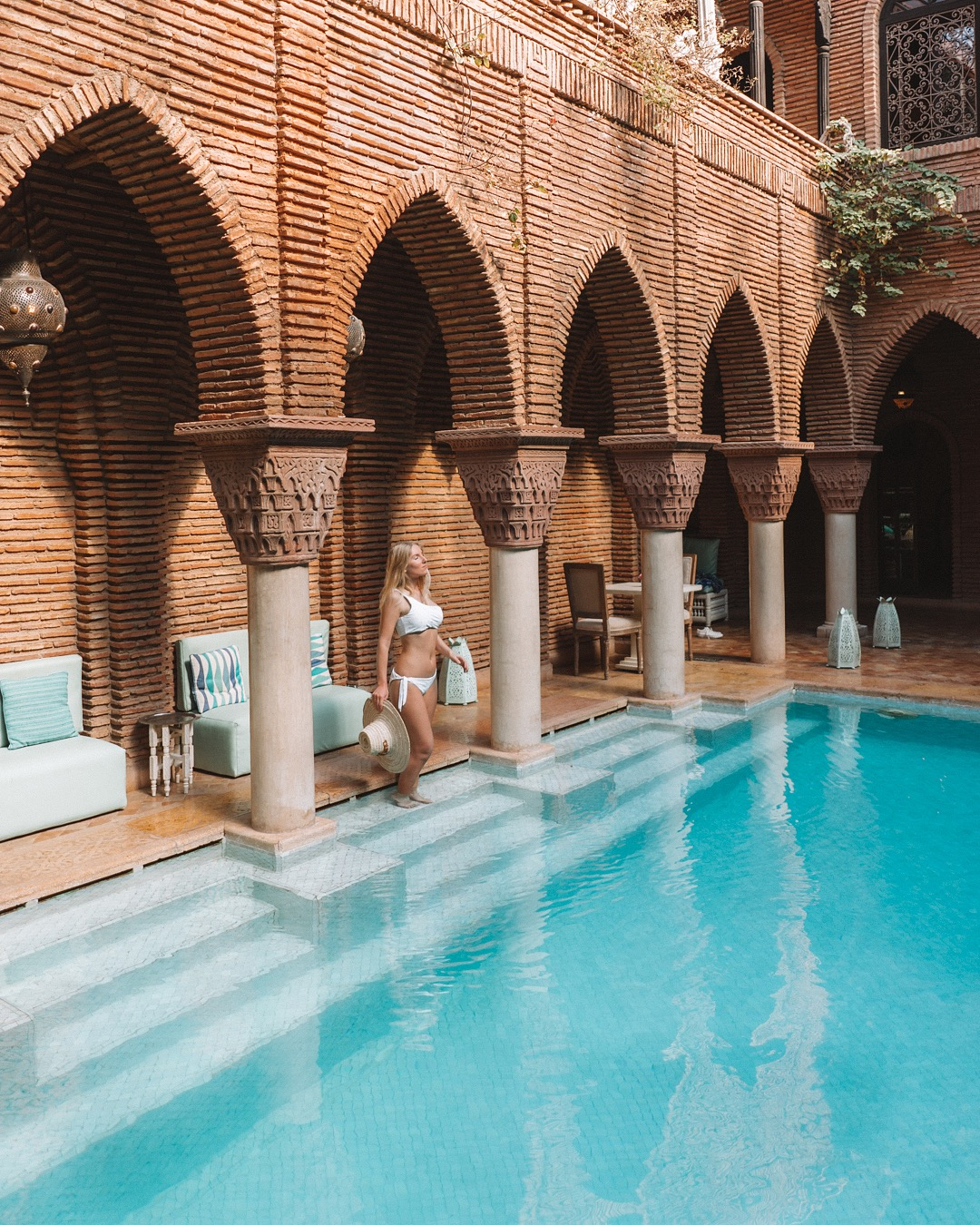 La Sultana pool best places to visit in Marrakech