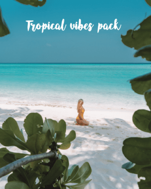 Tropical vibes pack for Lightroom presets by Chiara Barrasso