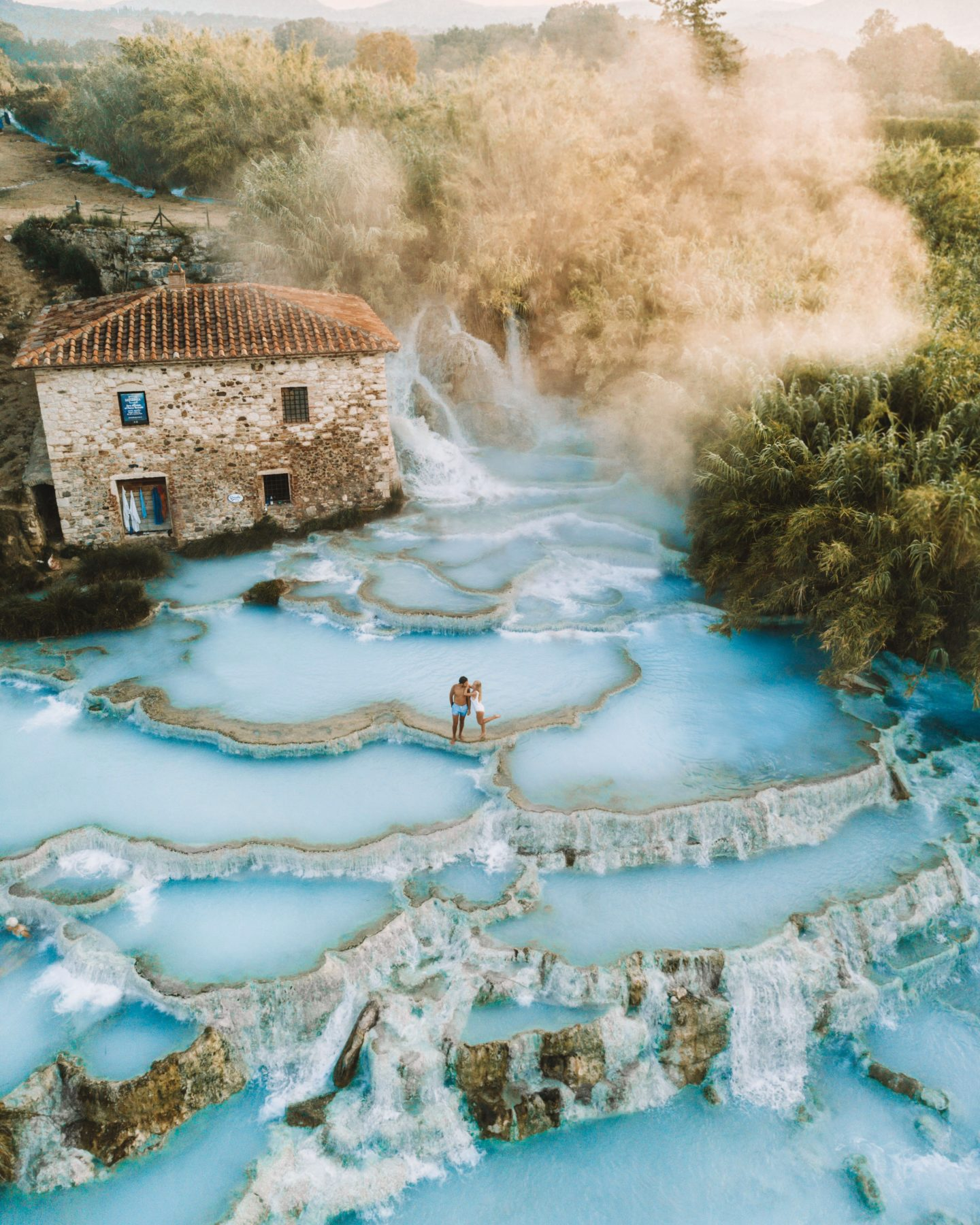 The magical cascade di Saturnia