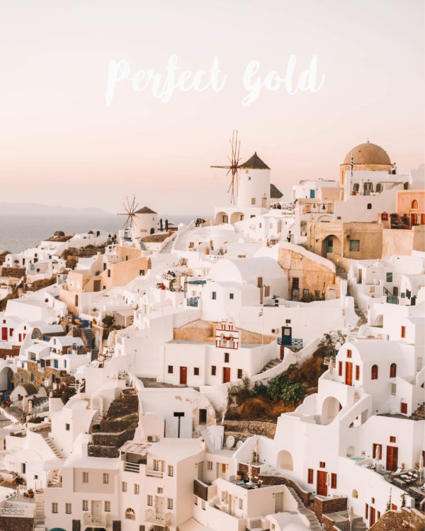 Perfect gold for Lightroom preset chiara barrasso