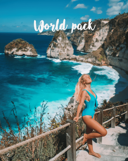 Product cover of world pack lightroom presets mobile chiara barrasso
