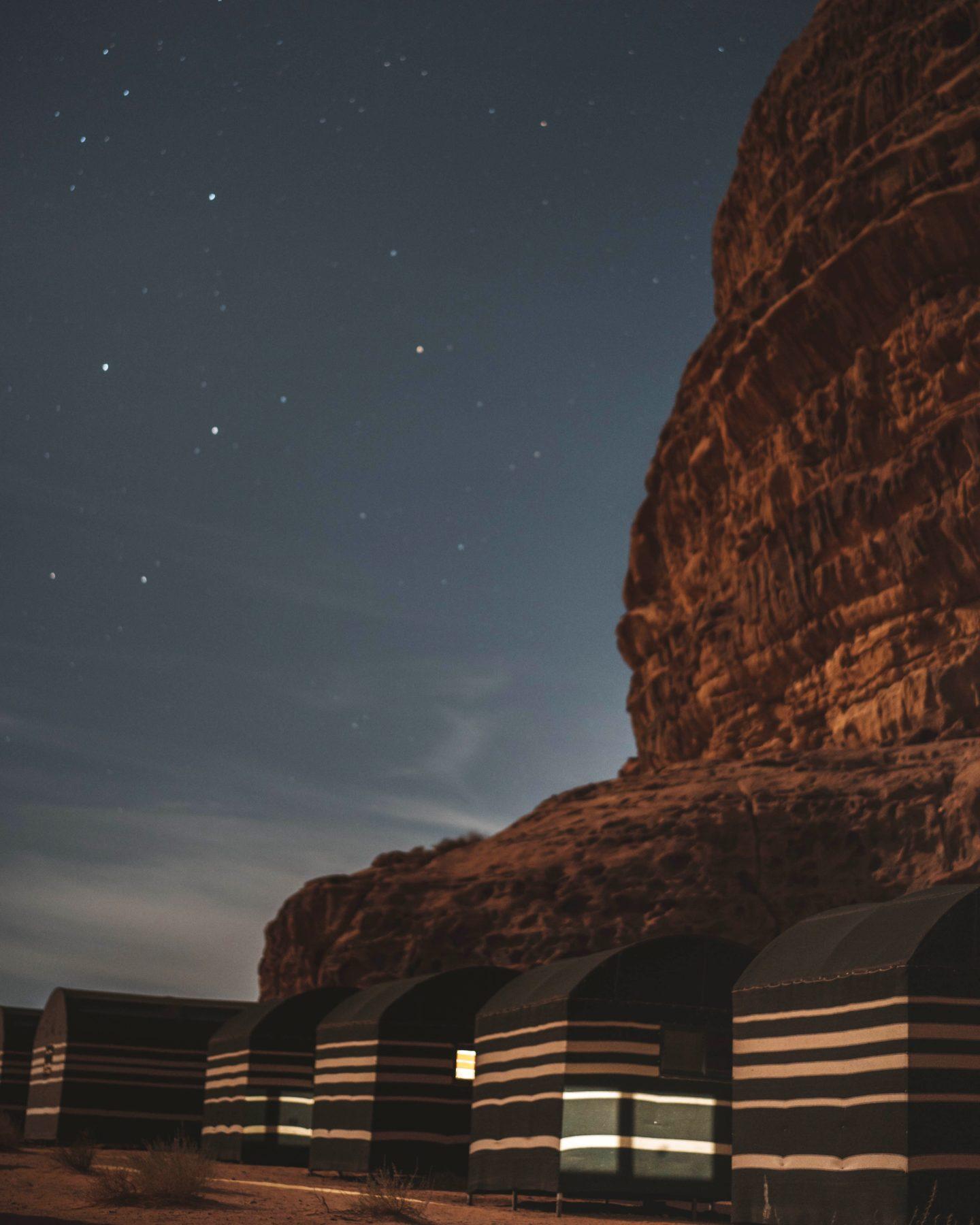 Wadi rum Jordanie de nuit